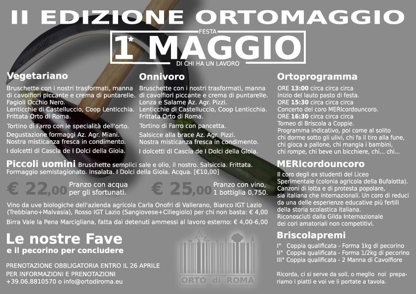 OrtoMAggio 1 Maggio a Roma